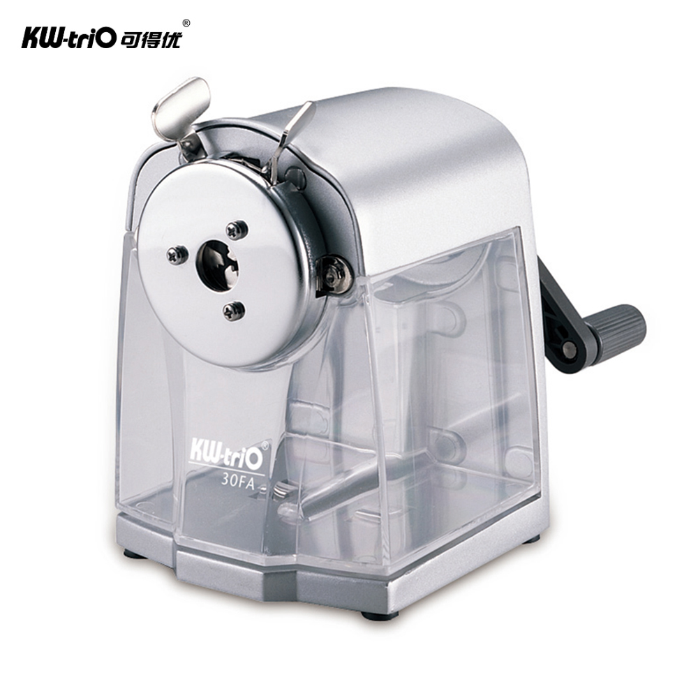 Manual Pencil Sharpener Handheld Operation Transparent Receptacle Helical Cutter Stationary for School Office Home-in Pencil Sharpeners from Office & School Supplies
