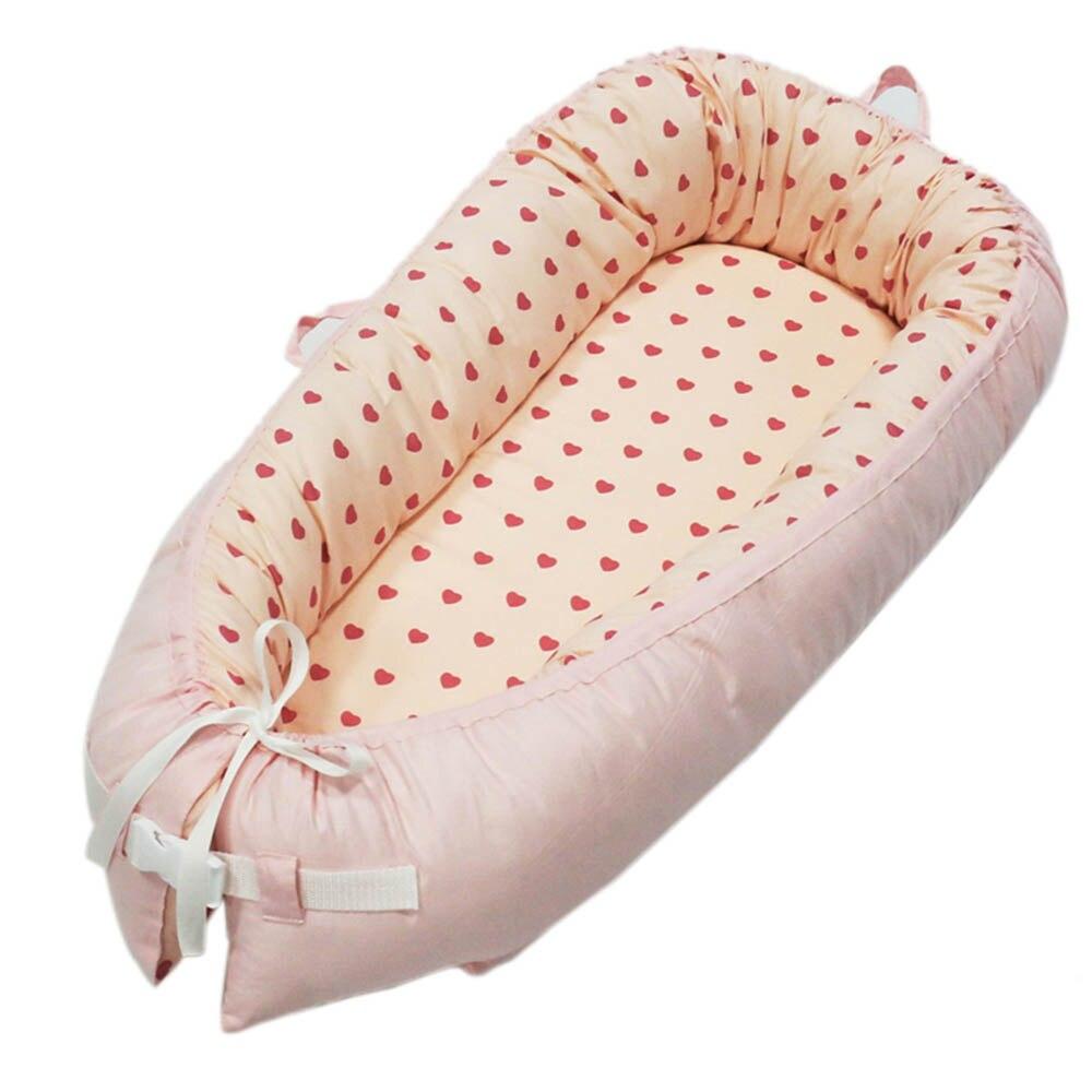 Bébé nid lit enfants infantile enfants coton berceau Portable Removablecrib lavable lit de voyage lit 80*50 cm