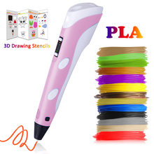 3D Pen Printing Pencil Mais Vendidos Birthday Gift PLA Filament for kids Drawing With Plastic