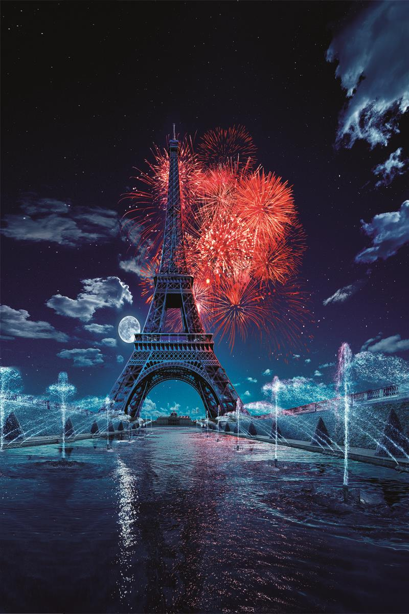 kate 5x7ft eiffel tower photography backgrounds fireworks scenery