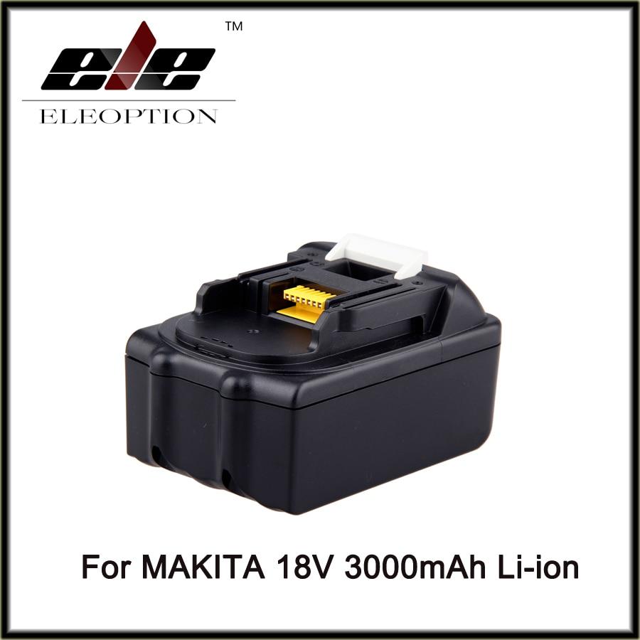 Eleoption NEW 3000mAh 3.0Ah 18 VOLT Li-Ion Power Tool Battery for Makita BL1830 Bl1815 194230-4 LXT400 high quality brand new 3000mah 18 volt li ion power tool battery for makita bl1830 bl1815 194230 4 lxt400 charger