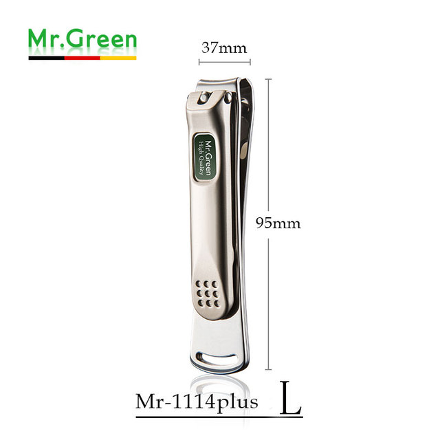 MR.GREEN Nail Clippers For Fingernails Fish Scale like Nail File Popular Gifts For Men Women,Sharp and Druable Wide Easy Press L