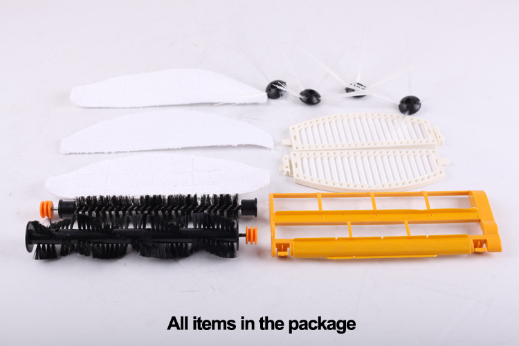 (For LL-D6601) Spareparts Pack for Robot Vacuum Cleaner LL-D6601,Main Brush,Dusting Brush,Side Brush,HEPA Filter,Brush Guard,Mop vacuum cleaning kit attachement kit dusting dusting brush nozzle crevices tool upholster tool for 32mm