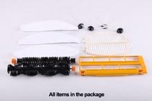 (For LL-D6601) Spareparts Pack for Robot Vacuum Cleaner LL-D6601,Main Brush,Dusting Brush,Side Brush,HEPA Filter,Brush Guard,Mop