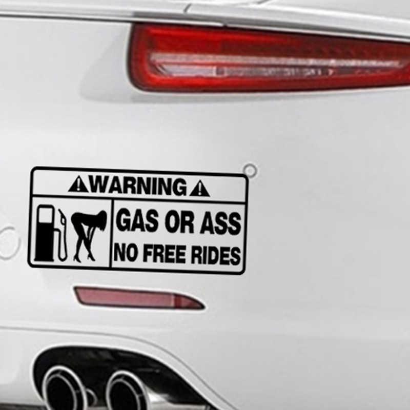 Предупреждение ющая задница или Регулировка газа Забавная девушка Наклейка виниловая Автомобильная упаковка аксессуары украшение продукта