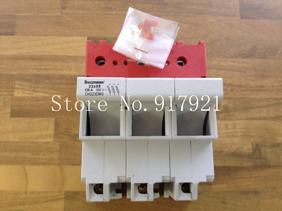 цена на [ZOB] Bussmann CH223DMS 22x58 125A 690V fuse holder genuine original --2pcs/lot