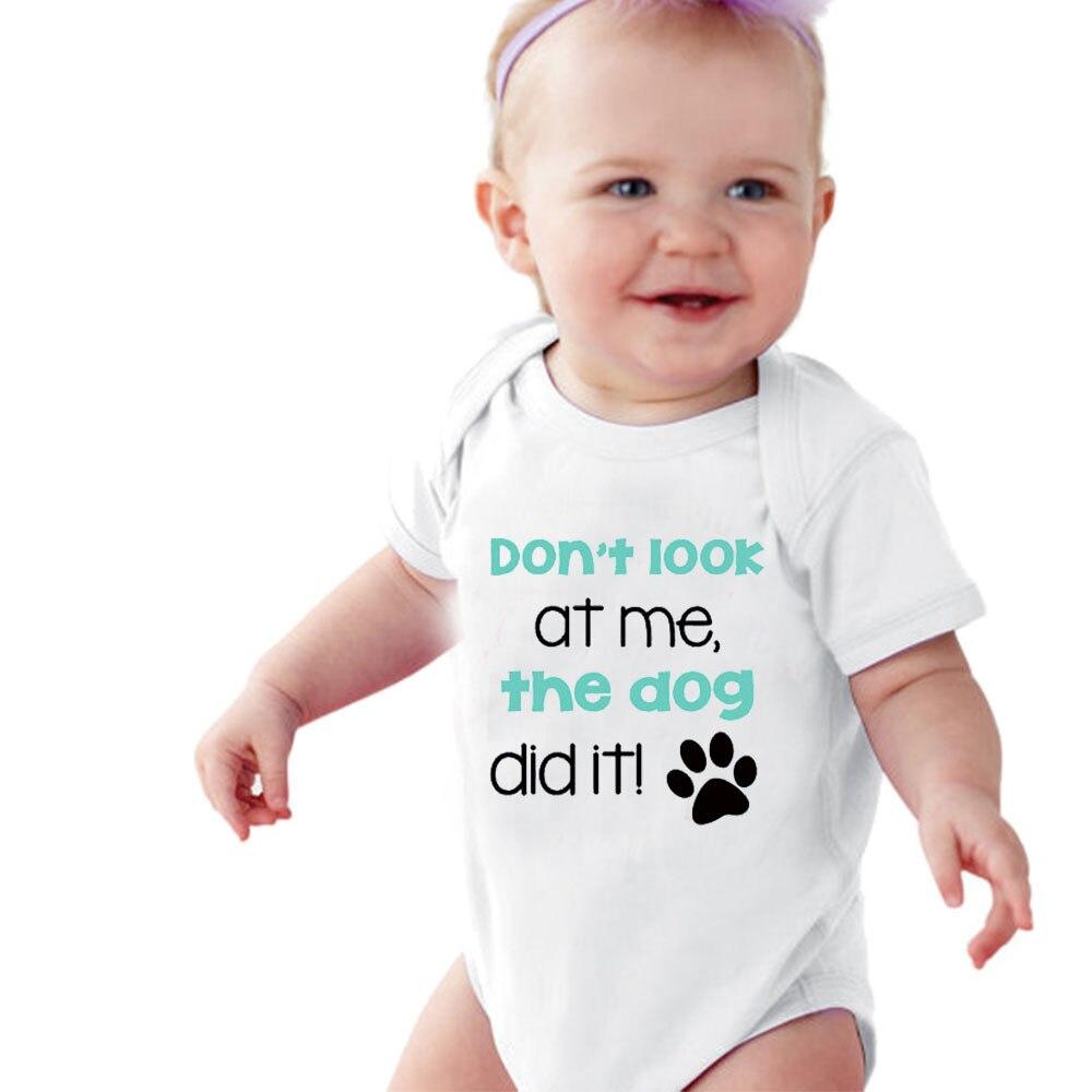 Culbutomind Chien Frère Chemise Chien Amant bébé chemise Ne pas me regarder le chien l'a fait! impression Drôle Bébé Barboteuse Bébé Douche Cadeau