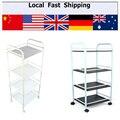 4 Layers Home Storage Rack Multi-layer refrigerator shelf storage holder wheel shoe food wine racks kitchen Cart