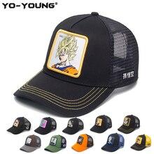 Yo-Young, бейсбольные кепки, качественные, аниме, драконий жемчуг, сетчатые кепки, мужские, женские, Gorra Goku, Детские Снэпбэк кепки для взрослых, шляпа от солнца, 53-59 см