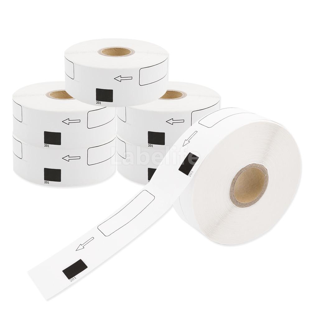 Labelife 6Rolls  DK-1201 Compatible for Brother Labels DK-11201 Die-Cut Standard White Paper Address Labels for QL570  QL700Labelife 6Rolls  DK-1201 Compatible for Brother Labels DK-11201 Die-Cut Standard White Paper Address Labels for QL570  QL700