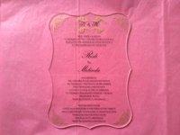 Sample Order Of Royal Scroll Shape Clear Acrylic Wedding Invitation Card