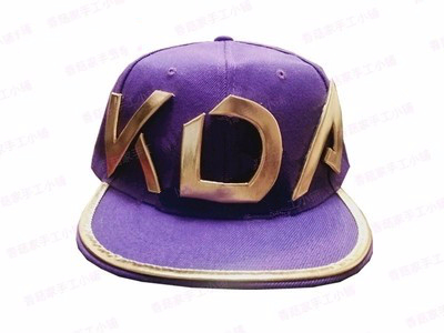 Game Lol Kda Akali Cosplay Props Hats Men Woman Hip Hop Cap Canvas Hand Embroidery Baseball Caps Hats Sun Demo Hat New Costumes & Accessories