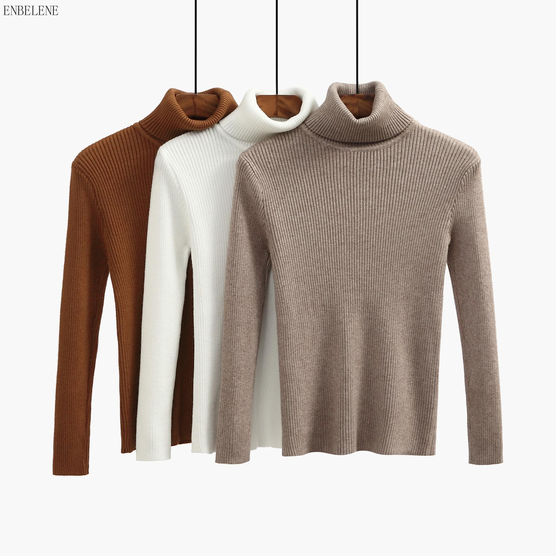 2019 Winter Thicken Knitted Bottoming Shirts Women Solid Khaki Wine Red Turtleneck Sweaters For Female Slim Pullover Tops Gj268 Fashionable And Attractive Packages