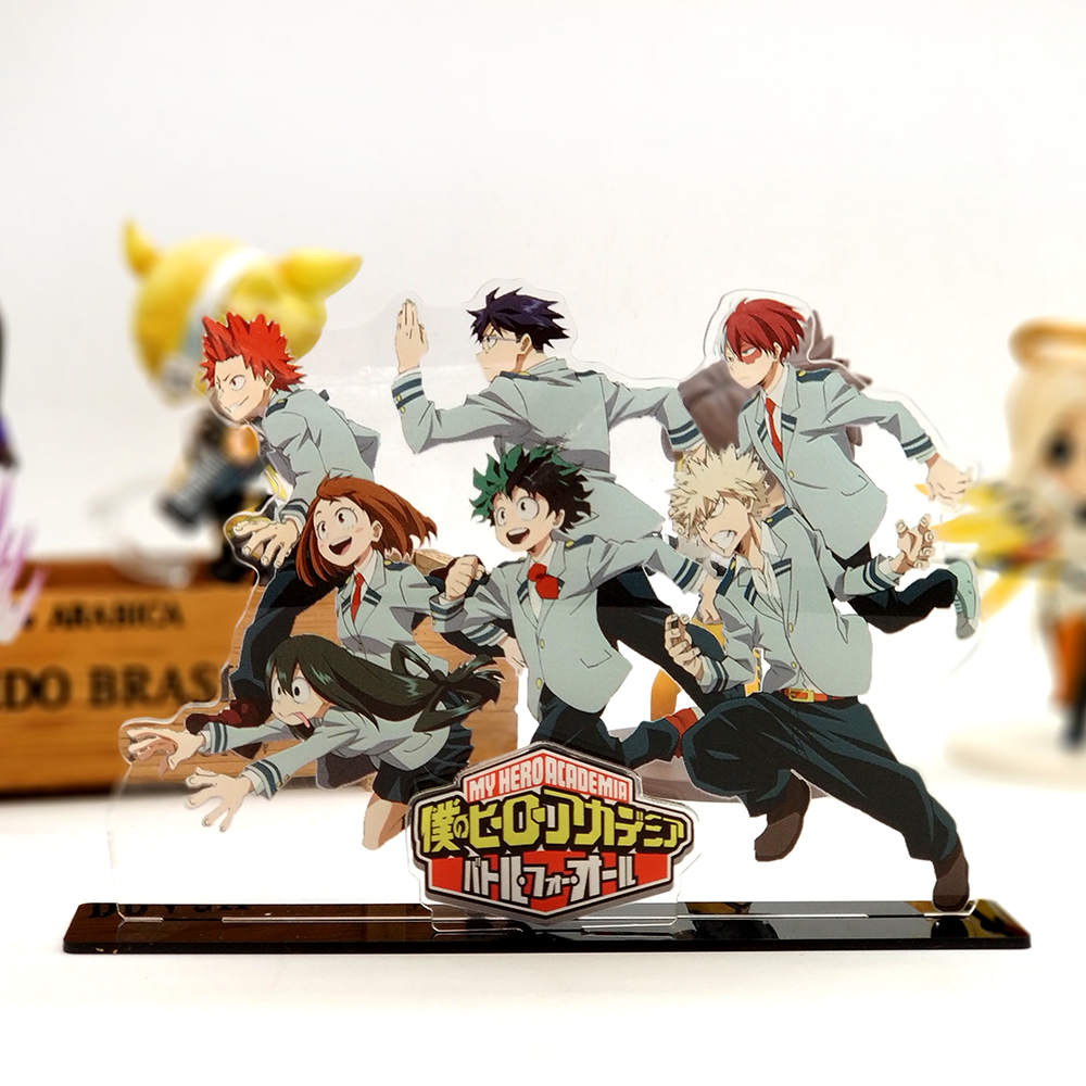 Love Thank You My Hero Academia Midoriya Izuku Shoto Bakugo acrylic stand figure model plate holder cake topper anime boku no love thank you anime jojo s kujo jotaro bizarre adventure acrylic stand figure model double side plate holder cake topper anime