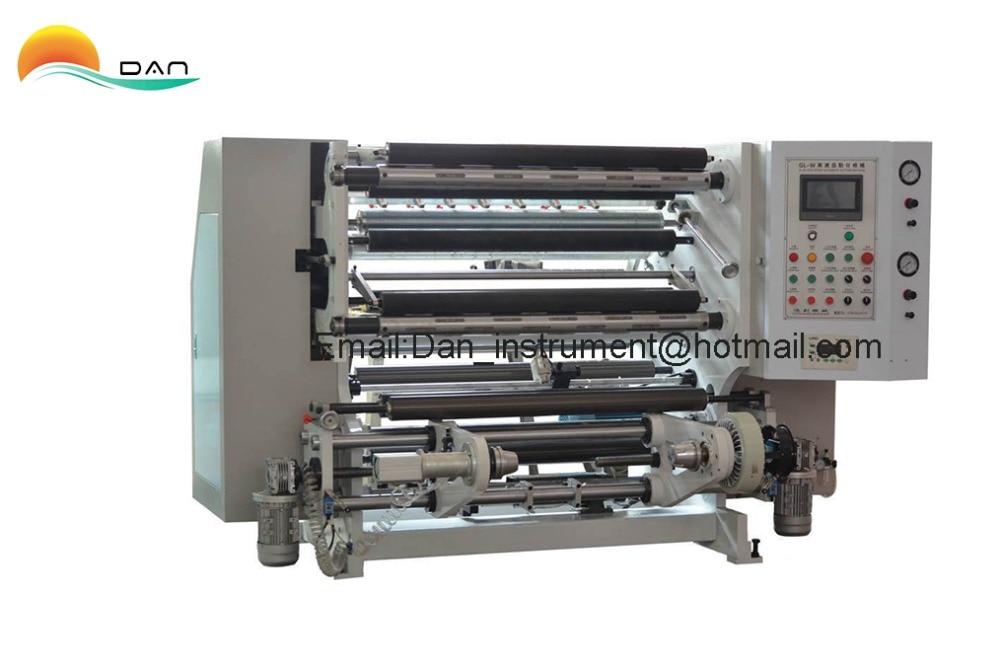 PLC vezérlésű nagysebességű tekercspapír, film hasítógép, - Mérőműszerek - Fénykép 1