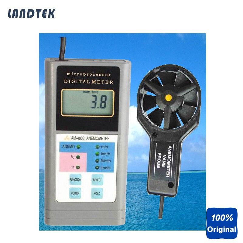 Digital Anemometer Air Flow Anemometer Landtek AM4838 инструменты измерения и анализа landtek sl5816 sl 5816 40 130