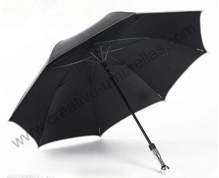 Auto-defesa inquebrável guarda-chuva de golfe de carbono, fibra de vidro e eixo costelas, 210 T pongee Formosa Formosa revestimento preto 5 vezes, Anti-UV