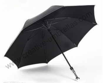 Self-defense unbreakable golf umbrella,carbon fiberglass shaft and ribs,210T Taiwan Formosa pongee black coating 5times,Anti-UV - DISCOUNT ITEM  55% OFF All Category