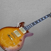 Tiger Flame electric guitar Standard Golden accessories Classic ST electric guitar Free shipping wholsale guitar LP guitar