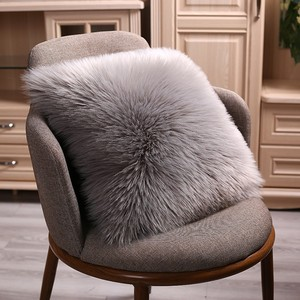 40/45/50cm High Quality European Plush Pillow Case Wool Cushion Cover Faux Fur Sofa Bed Pillowcase Cover Christmas Pillow Cover(China)