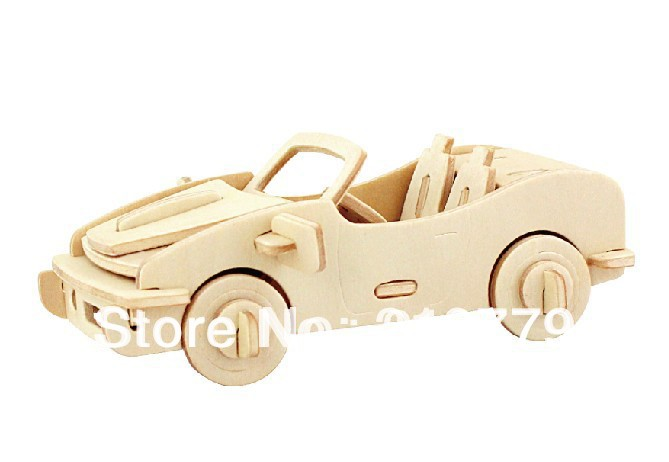 unfinished 3d animal car wooden toys puzzle for kids model building kits art craft toy for children in puzzles from toys hobbies on aliexpresscom