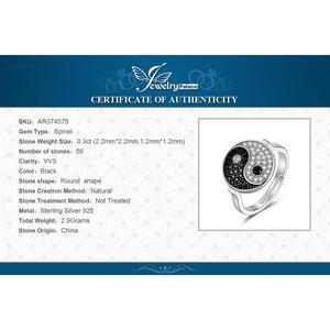 Image 5 - JewelryPalace Taiji Yin Yang Genuino Nero Spinello Anello In Argento Sterling 925 Anelli per Le Donne Anello di Dichiarazione di Gioielli In Argento 925