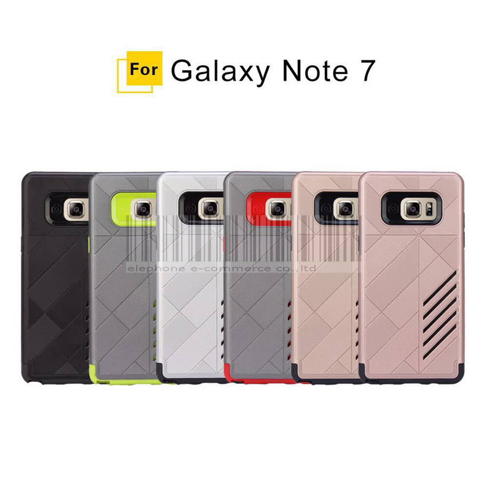 Case For Samsung Galaxy Note 7 Dual Layer PC+TPU Shockproof Hybrid Armor Impact Protective Hard Cover For Samsung Galaxy Note FE
