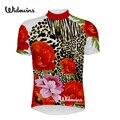 Одежда для гонок с коротким рукавом и цветочным леопардовым принтом  дышащая велосипедная Джерси  Ropa Maillot Ciclismo  велосипедная спортивная оде...