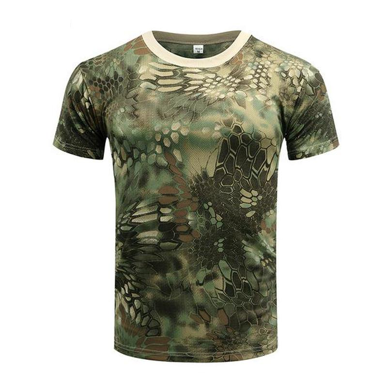 Outdoor Summer Military Camouflage Drier Skin Mesh T-shirt Men Militar Tactical Trainning Hiking Short Sleeve Tees
