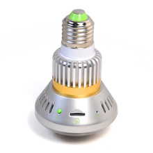 681H Bulb Lamp Camera Wifi Micro CCTV Security  Surveillance Camera DVR with Motion Dection Night Vision Circular Storage