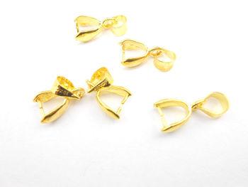 Bricolage or bijoux accessoires 18 K collier boucles doreilles reliant dossier pendentif accessoires