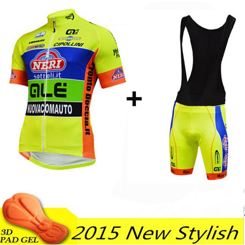 ФОТО New Cycling jersey fluo yellow short sleeve summer style set gel pad cycling clothing roupa ciclismo bicicleta mtb