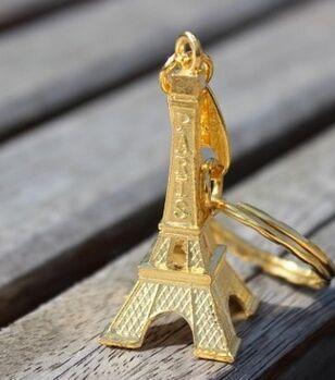 DHL, Новое поступление, креативный 300 шт./партия, Модный классический Сувенирный Париж, брелок «Эйфелева башня» с кольцом для ключей