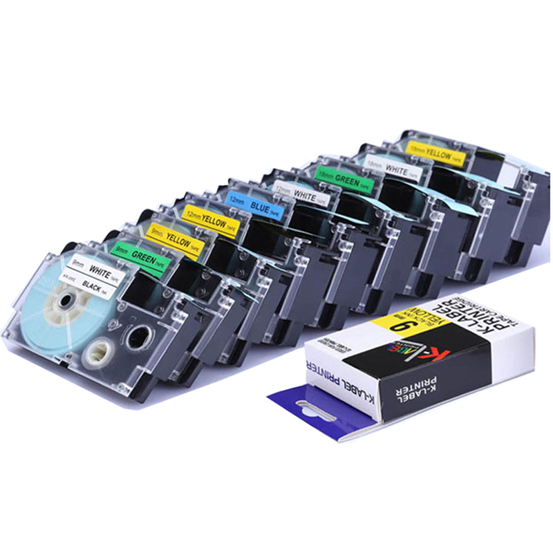 CIDY Multicolor XR-12WE XR-9WE XR-18WE XR-12RD XR-12YW XR-9YW/18YW Compatible for KL-60 KL-60SR Label Makers for EZ PrintersCIDY Multicolor XR-12WE XR-9WE XR-18WE XR-12RD XR-12YW XR-9YW/18YW Compatible for KL-60 KL-60SR Label Makers for EZ Printers