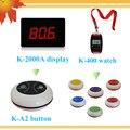 Precio de fábrica LOGO botones personalizados reloj de hotel sistema de llamada de buscapersonas camarero