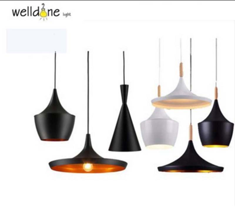 British Design Black White Copper shade Beat Tall fat wide pendant lamp light E27 for Restaurant Living Room Bedroom Hotel Decor freeing abc tall fat and wide design by pendant lamp beat light copper shade pendant lights