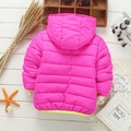 Hot sale ! Children autumn winter Hooded brand cotton-padded jacket boys girls fashion leisure sports jacket