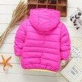 Venda quente! crianças outono inverno Com Capuz marca de algodão-acolchoado jacket meninos meninas jaqueta de esportes de lazer da moda