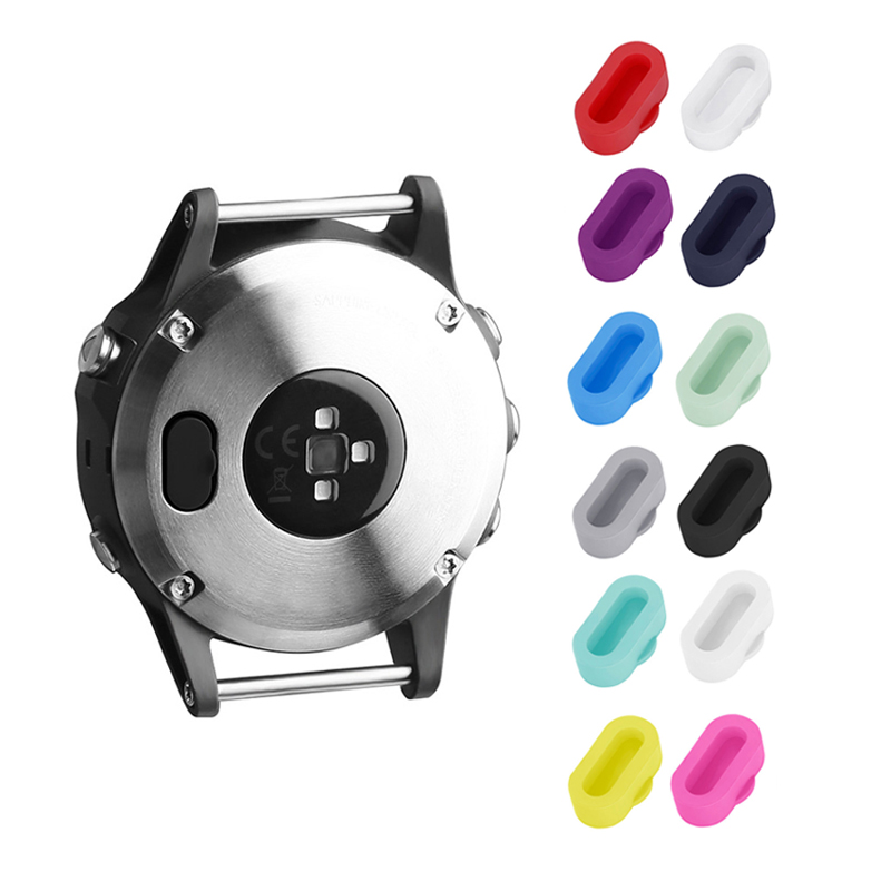ALLOYSEED 12Pcs/Set Silicone Smart Watch Charger Port Cover Protector Anti Dust Plug For Garmin Fenix 5/5S/5X Charging Port Case protective silicone back case cover w anti dust plug for iphone 5 5s transparent