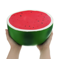 Watermelon Half 25*24*14cm Huge Fruit Slow Rising Soft Toy Gift Collection Decoration Adult Children Reduce Stress Toys