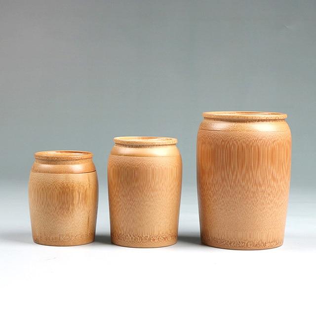 Teedose Tragbare Bambus Verschlossenen Glas Für Aufbewahrungsbox Hand  Bambus Arbeitsplatte Container Küche Kanister Mit Süßigkeiten Getreide