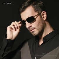 VEITHDIA Brand Polarized Men's Sunglasses Aluminum magnesium Gold Frame Sun Glasses Men Driving Glasses Eyewear Accessories 2458
