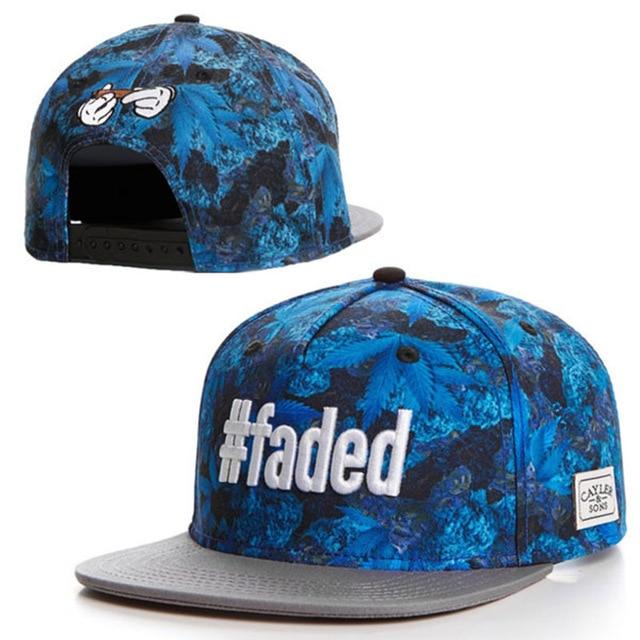 755aa10a93c FADED LEAF Cayler sons Snapback caps   hats for women men blue weed snap  back baseball cap hip hop sports summer style bones