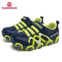 FLAMINGO Marke Leder Einlegesohlen LED Frühling & Sommer Kinder Wanderschuhe Größe 24-30 Kinder Sneaker 91K-SM-1241/91K-SM-1242