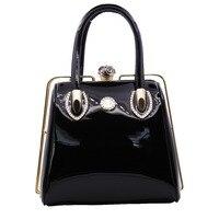 Skull Diamonds Women Top-Handle Bags Crystal Ladies Evening Bride Dome Bag Women Wedding Handbag Brand Designer Frame Bags