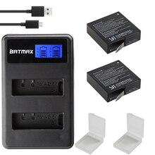 2Pcs Battery +LCD USB Dual Charger for Yi Lite Xiaomi YI 4K Batteries akku Xiaomi Yi 2 4k Action Sport Camera Accessories Black