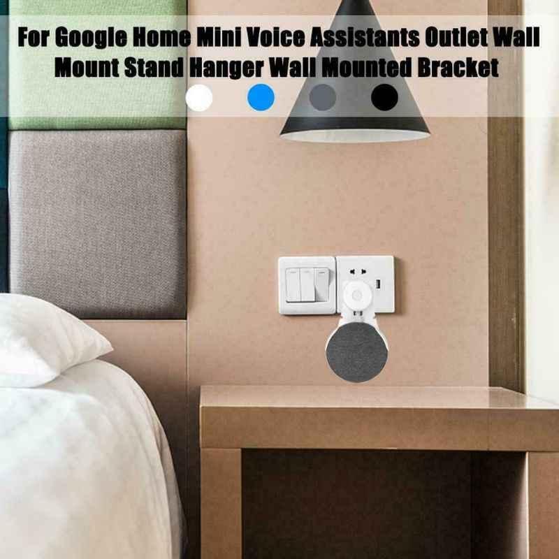 Enchufe soporte de pared soporte de suspensión soporte para Google Home Mini asistente de voz accesorios de altavoz inteligente