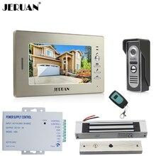 JERUAN 7 inch LCD Video Doorbell Doorphone Door phone Intercom System kit Color