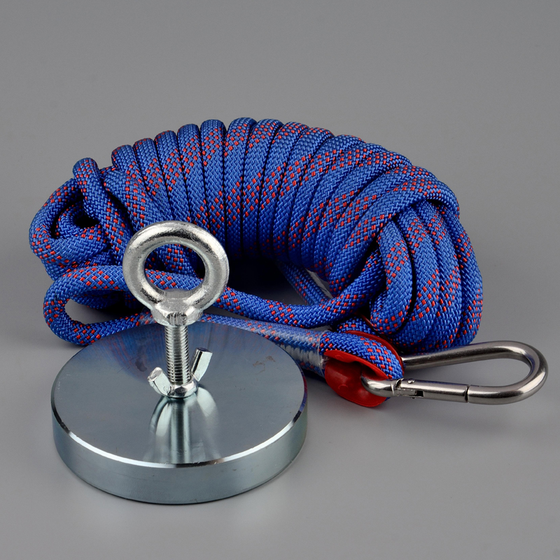 200Kg Strong Neodymium Ring Magnet Fishing Magnet Magnetic Material Deep Sea Salvage Recovery Searching Magnets With Rope Option