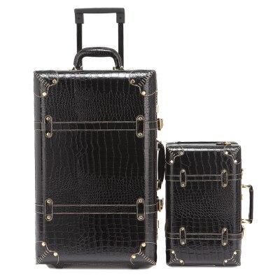 Welp Letrend Vintage Koffer Rollen Gepäck Set Retro Leder Gepäckkabine NI-81